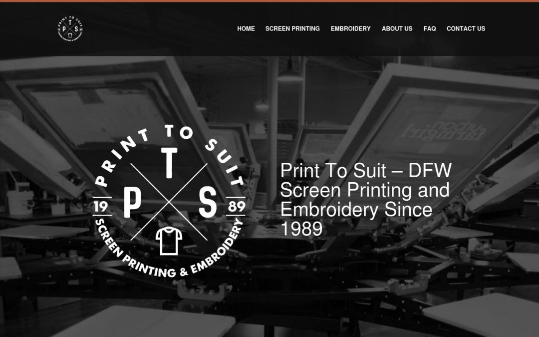 PRINT TO SUIT LAUNCHES NEW WEBSITE